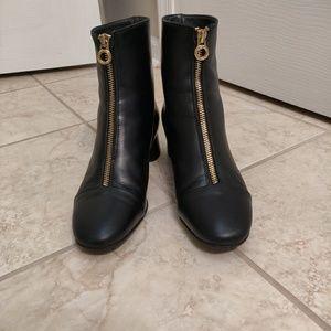 NAPOLEONI Italian leather ankle booties